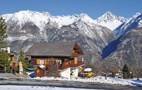 Gemütliches Ferienhaus : Region Wallis für 5 Personen