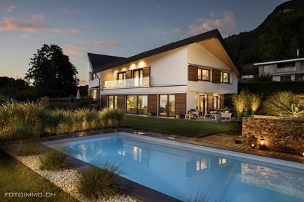 Gemütliches Ferienhaus : Region Genfersee für 10 Personen