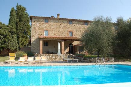 Gemütliches Ferienhaus : Region Castellina Scalo für 11 Personen