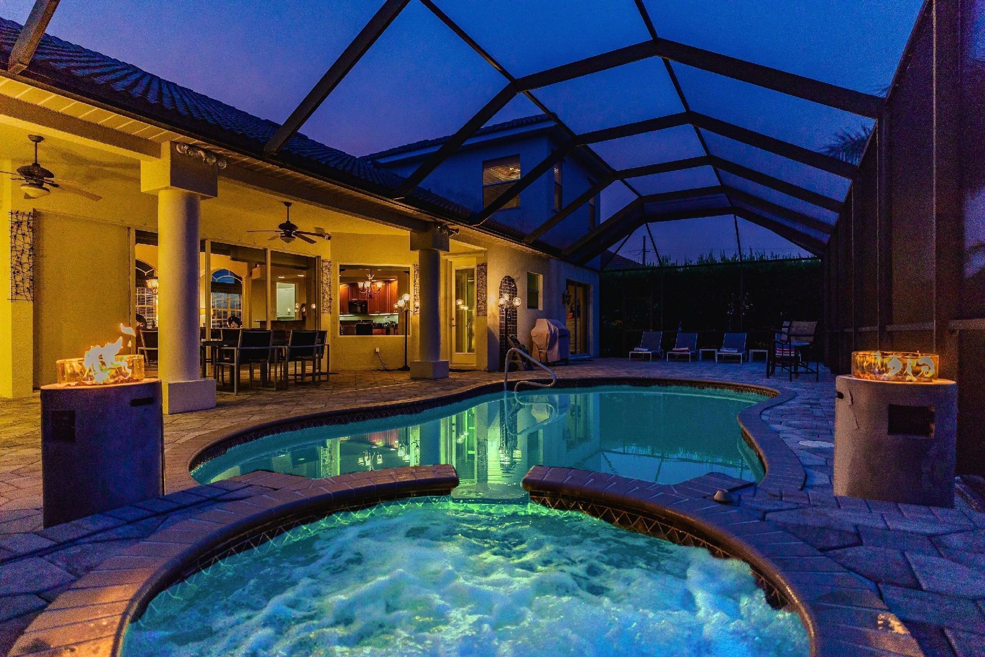 Ferienhaus mit Privatpool für 10 Personen ca.  in den USA