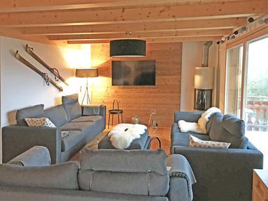 Gemütliches Ferienhaus : Region Wallis für 12 Personen