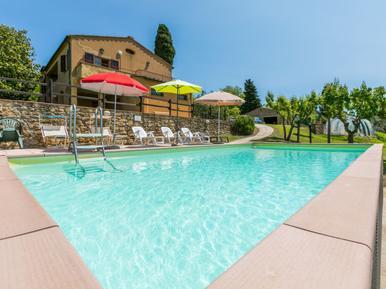 Gemütliches Ferienhaus : Region Volterra für 9 Personen
