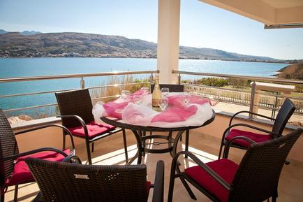 Für 6 Personen: Hübsches Apartment / Ferienwohnung in der Region Pag